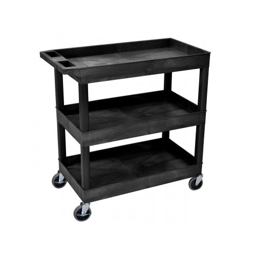 Luxor/ H Wilson Three Shelf Utility Cart LUXEC111B
