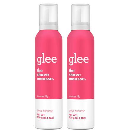 (2 pack) glee Summer Lily Shave Mousse, 8.1oz