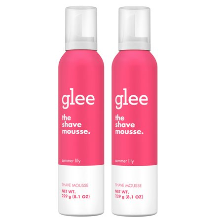 (2 pack) glee Summer Lily Shave Mousse, -