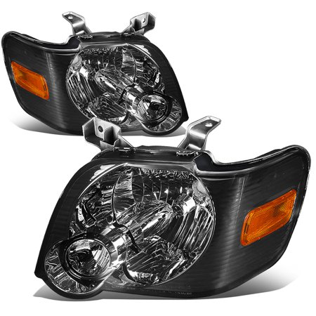 For 2006 to 2010 Ford Explorer / Sport Trac U251 Pair of Headlight Smoked Housing Amber Side 07 08 09 Left+Right