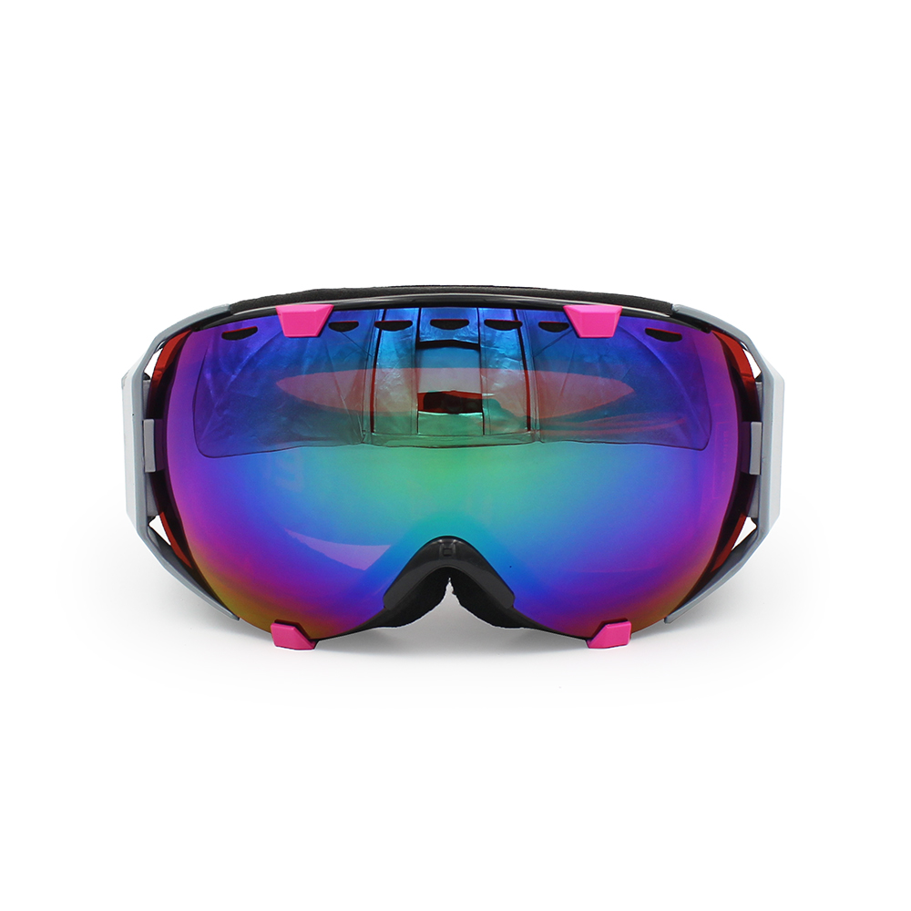 Ediors Windproof Snowmobile Ski Snow Goggles Eyewear Anti Fog Double Lens All Mountain   UV Protection (105-3, Revo... by Ediors