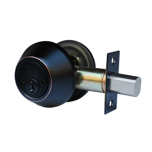 Constructor Deadbolt Entry Door Lock Set with Double Cylinder Oil Rubbed Bronze Finish