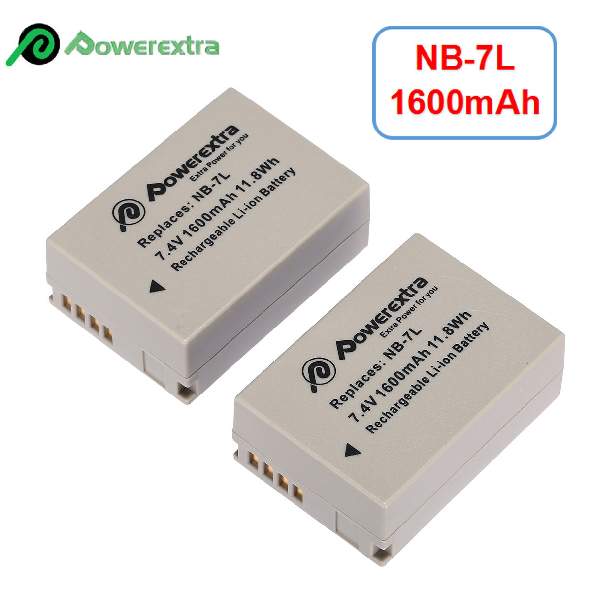 G11 Cameras SX 30 IS G10 NB-7L 1600mAh Battery for Canon Powershot ...
