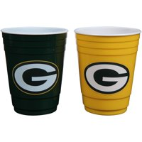 Green Bay Packers Home/Away Color Plastic Cup Set