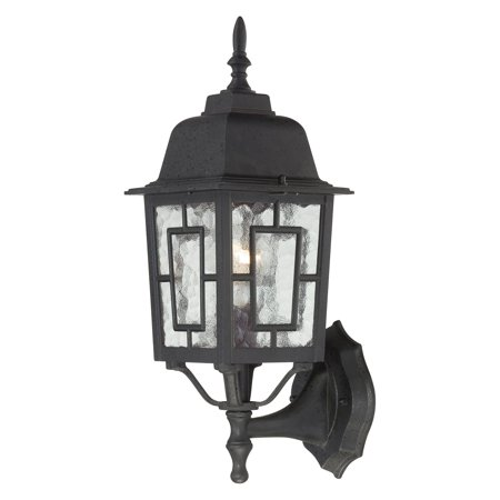 Nuvo Lighting 60/4926 Banyon Single-Light Wall Lantern with Clear Water Glass Pa