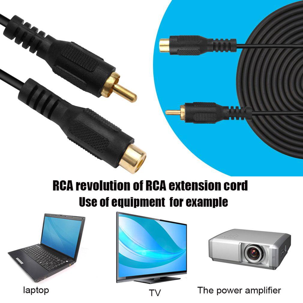 NEW Professional RCA Male To RCA Female M/F Audio Composite ...