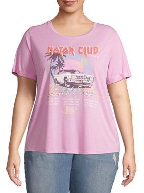 Grayson Social Juniors' Plus Size Graphic Crewneck T-Shirt