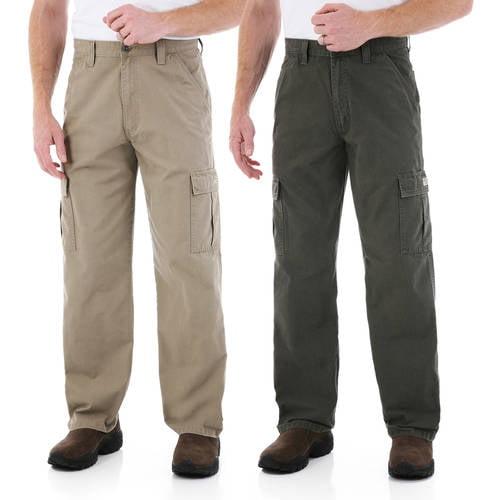 Wrangler - Mens Rip-Stop Cargo Pants, 2 Pack