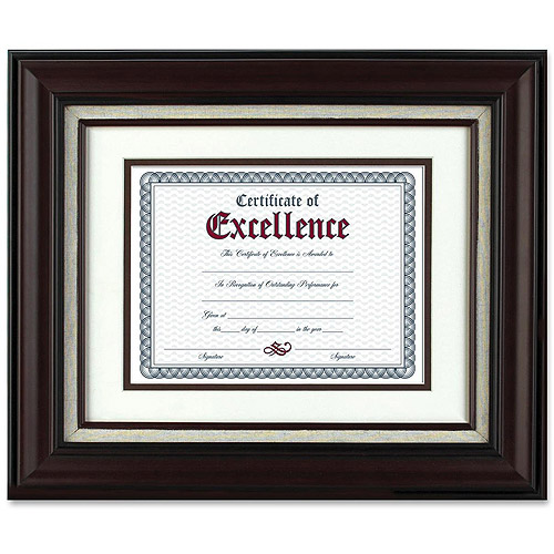 Burns Grp. Mahogany and Linen Wall Frame