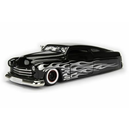 1951  Mercury Hard Top, Black w/ Flames - Jada 99060WA1 - 1/24 Scale Diecast Model Toy Car - Top Selling Toys