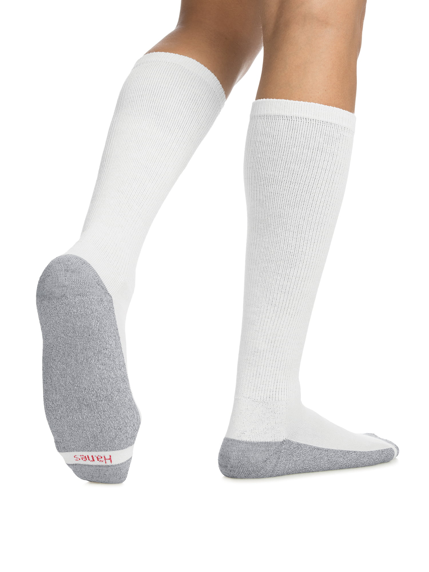 Hanes Men/'s Over the Calf Tube Socks 6-Pack