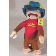 "Curious George Plush Carrying a Baseball ~ 16"" Tall"