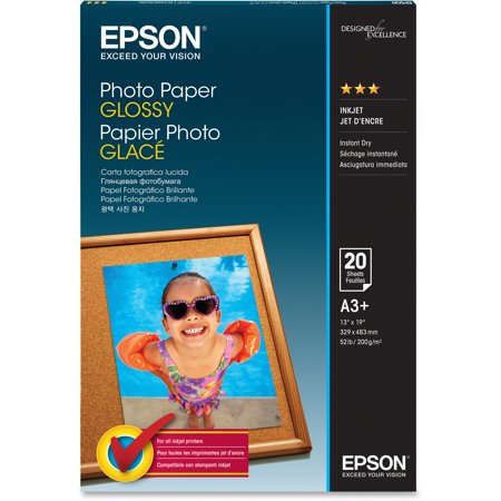 Epson, EPSS041143, Glossy Finish Photo Paper, 20 / Pack, -