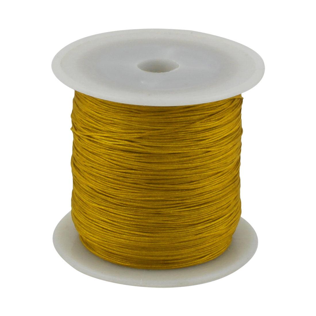 Home Nylon DIY Art Craft Braided Chinese Knot Cord String Rope Khaki 153 Yards