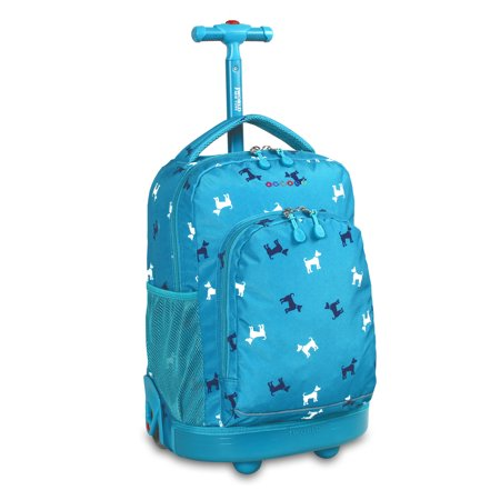 J World Sunny Rolling Backpack (Best School Bag Brands In The World)