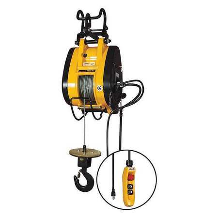 OZ LIFTING PRODUCTS OBH1000NG Electric Wire Rope Hoist,1000 lb.,115V