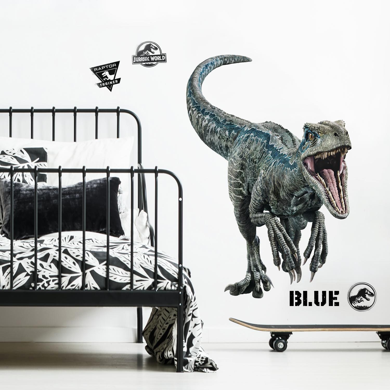 Jurassic World 2: Fallen Kingdom Blue Velociraptor Giant Wall Decal Mural Peel & Stick Wall Stickers