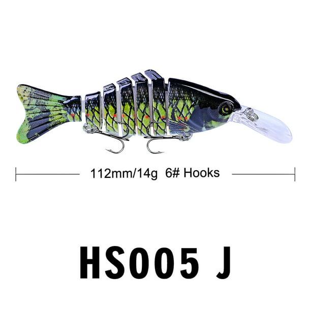 Fishing Lures Crankbaits Hook Minnow Baits Tackle Crank Kit Fishing 11.2cm