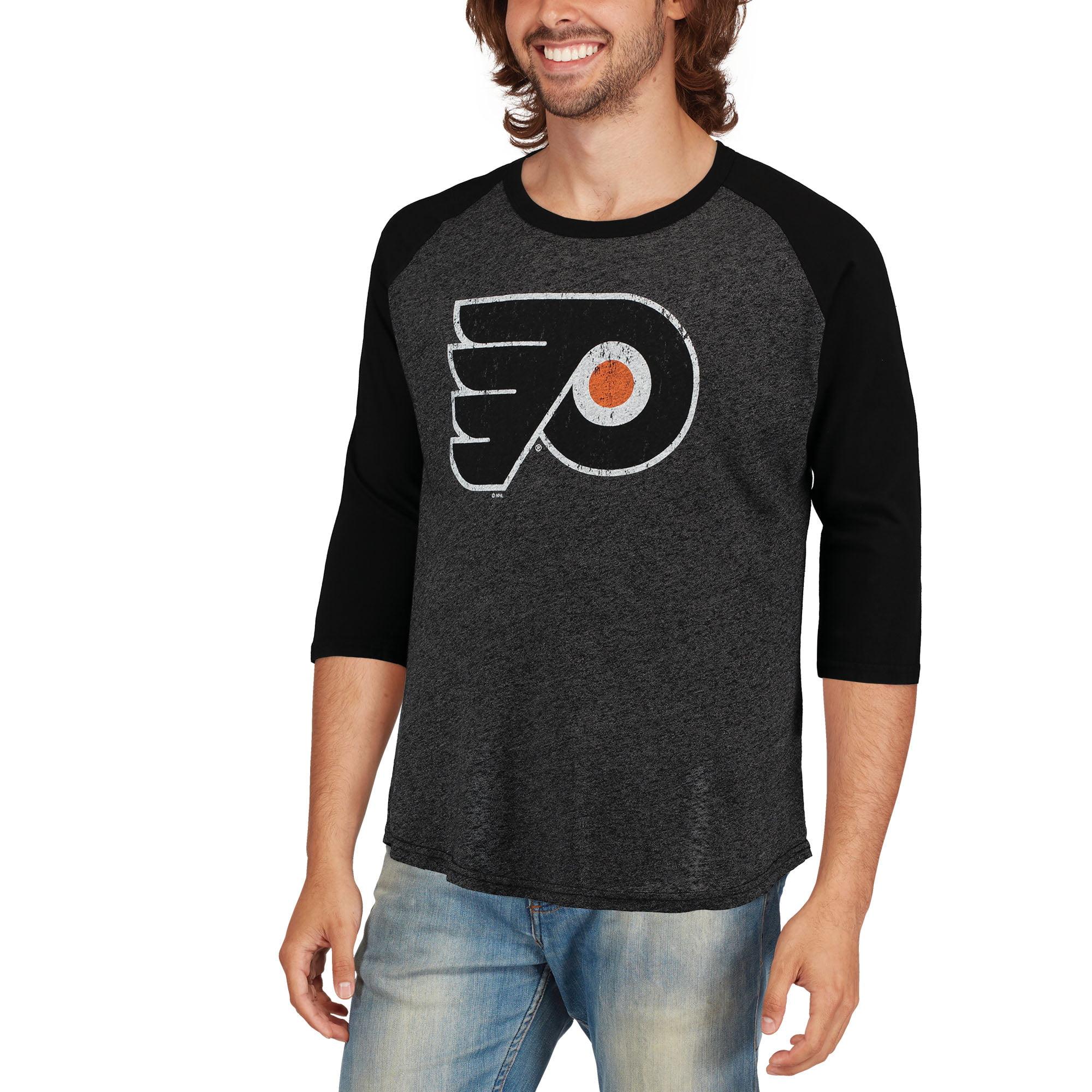 46ee665a6 Philadelphia Flyers Majestic Threads Tri-Blend 3 4-Sleeve Raglan T-Shirt -  Black - Walmart.com