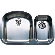 """Blanco 440169 Wave 20.87"""" X 31.5"""" Double-Basin Stainless Steel Undermount Residential Kitchen Sink, Stainless Steel"""