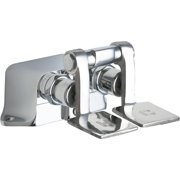 Chicago Faucets 625-SLOAB Chrome Ecast Combination Pedal Box