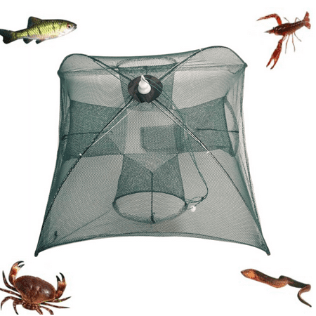 Foldable Fishing Net Trap Shrimp Cage for Fish Shrimp](Fish Netting)