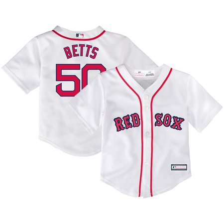 new product 461bd 34c72 Mookie Betts Boston Red Sox Toddler Home Replica Player Jersey - White