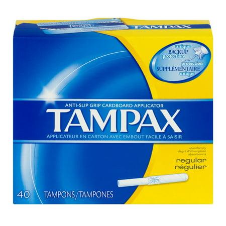 Tampax Anti Slip Grip Tampons Regular   40 Ct