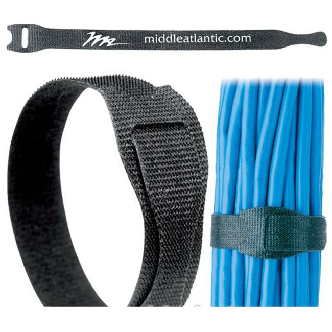 Middle Atlantic TW12 8 in. Cable Management Straps 12 Pack