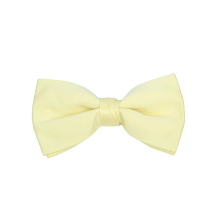 - Young Boy's Pre-tied Clip On Bow Tie - Formal Tuxedo Solid Color