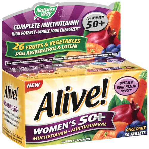 Alive! Once Daily Women's 50+ Multivitamin/Multimineral, 50ct