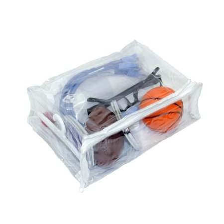 Heavy Duty Vinyl Zippered See Through Storage Bags Clear