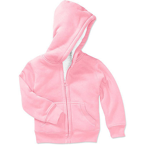 Faded Glory Baby Girls' Sherpa Lined Hoodie