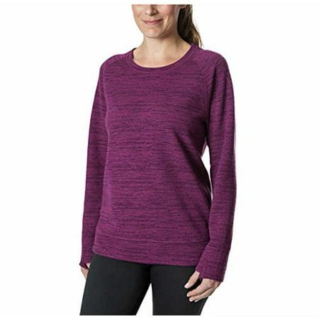 Kirkland Signature Ladies' Crewneck Sweater w/ thumbholes (XL Heathered (Signature Cotton Sweater)