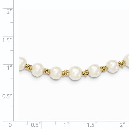 14K Yellow Gold FW Cultured Pearl Bracelet - image 1 of 3