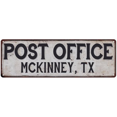 Mckinney, Tx Post Office Personalized Metal Sign Vintage 6x18 106180011145 (Party City Mckinney Tx)