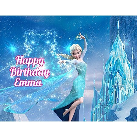 Frozen Elsa Anna Edible Image Photo Cake Topper Sheet Personalized Custom Customized Birthday Party - 1/4 Sheet - 74518 (Cake Toppers Frozen)