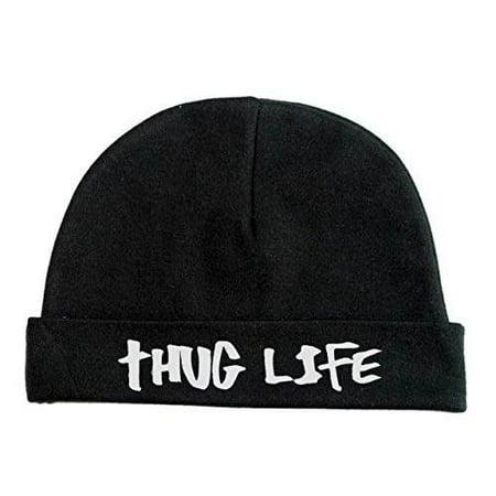 1e9ba235338 Lil Shirts Unisex Baby Thug Life Beanie Baby Bodysuit~0-6 Months -  Walmart.com