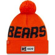 Chicago Bears New Era 2019 NFL Sideline Road Reverse Sport Knit Hat - Orange - OSFA