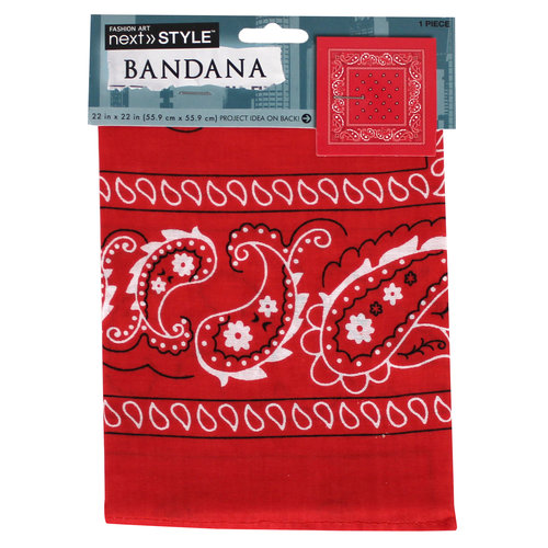 Next Style Single Bandana, Red Paisley