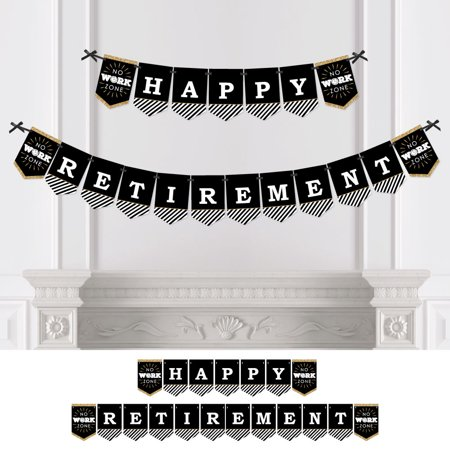 Happy Retirement Decorations (Happy Retirement - Retirement Party Bunting Banner - Party)