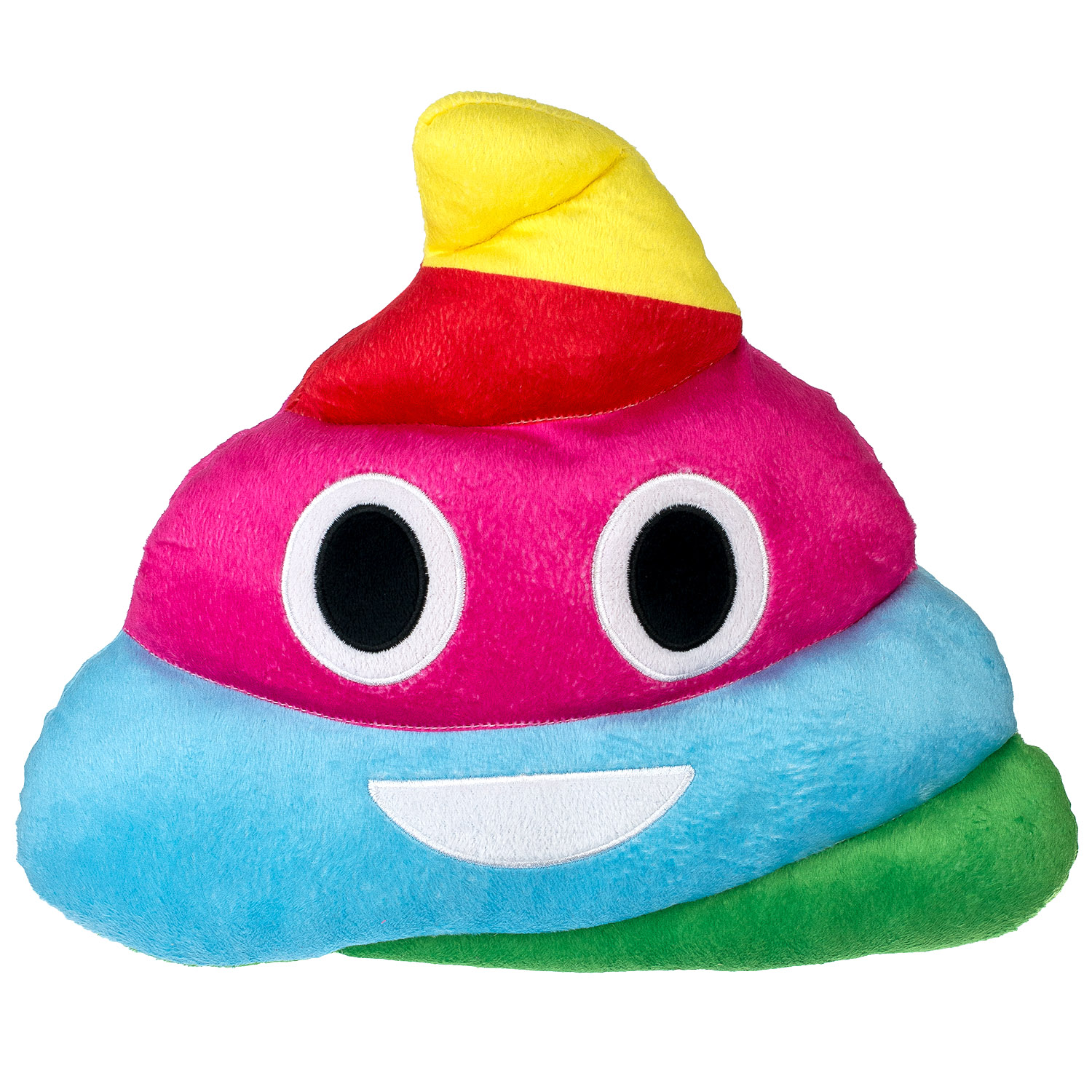 Emoji Expressions Rainbow Poop Pillow