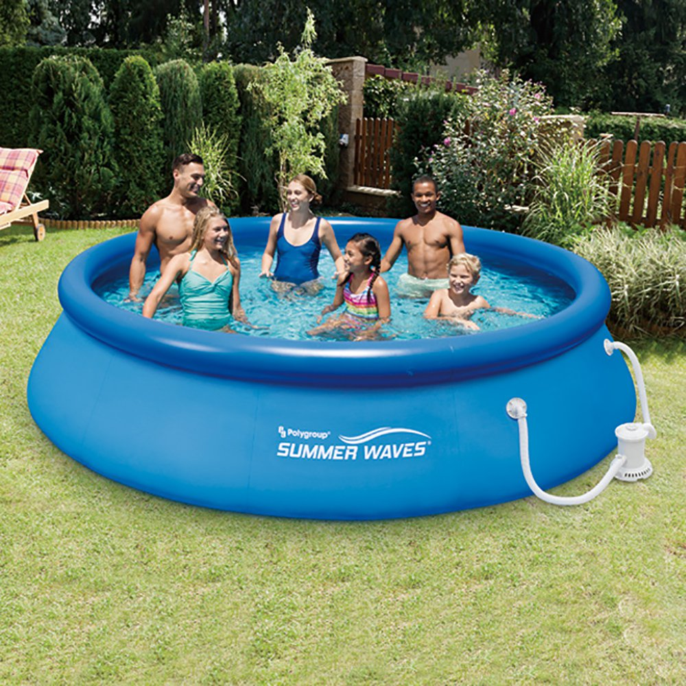 Summer Waves 12' Ft. Quick Set Inflatable Above Ground Po...