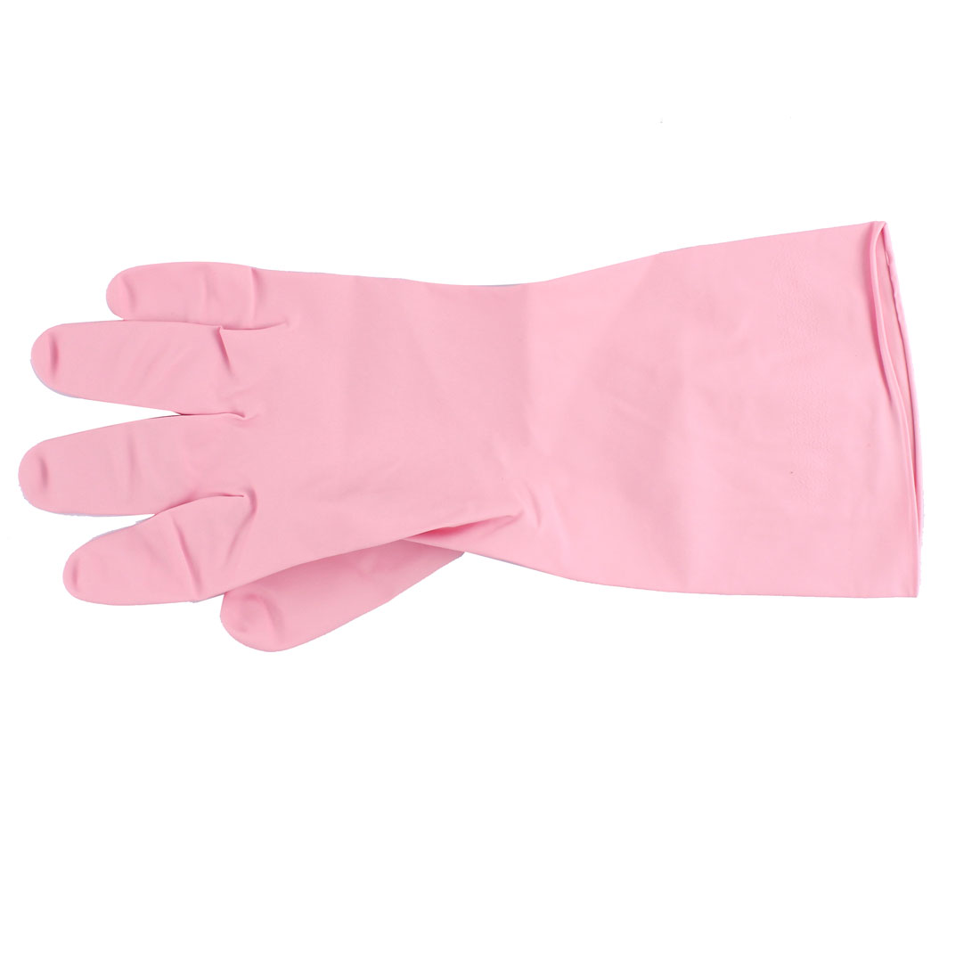 Unique Bargains Pink Rubber Kitchen Dish Washing Cleaning Protect Hand Gloves Pair - image 1 of 3