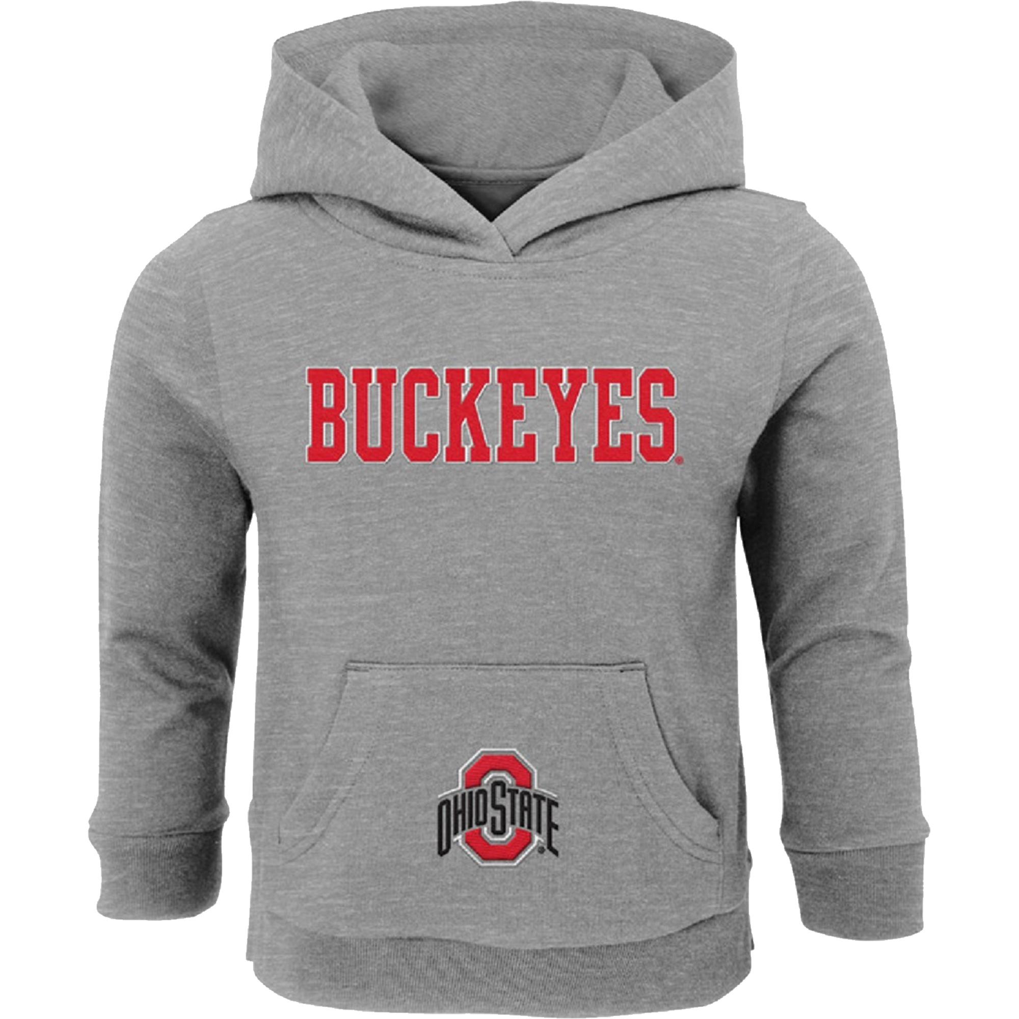 Preschool & Toddler Gray Ohio State Buckeyes Team Logo Fleece Hoodie