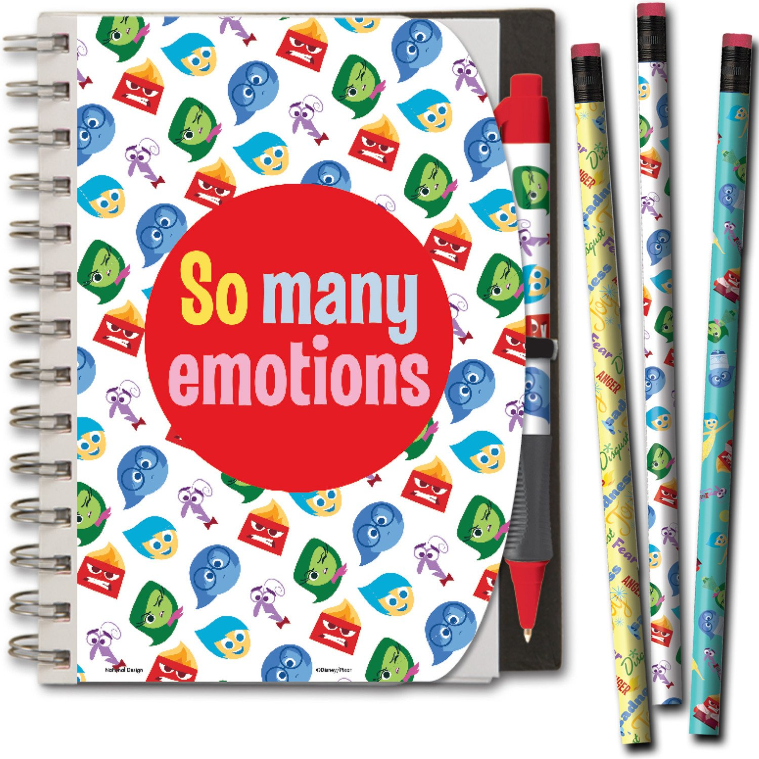 Disney Inside Out Notebook and Pen and Pencil Set with Carry Tote 5 x 7