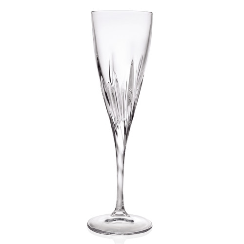 Lorren Home Trends Fluente 7 oz. Crystal Flute (Set of 6)