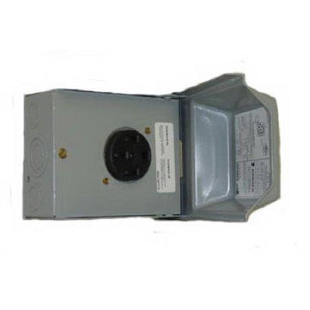 U054P Midwest Electric 50A, 120 & 240V, Outdoor Raintite Receptacle Enclosure - image 1 de 1