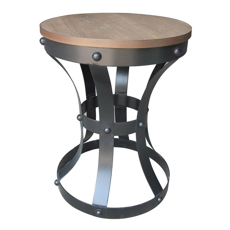Madison Park Ridge Rustic Metal and Wood Top Table