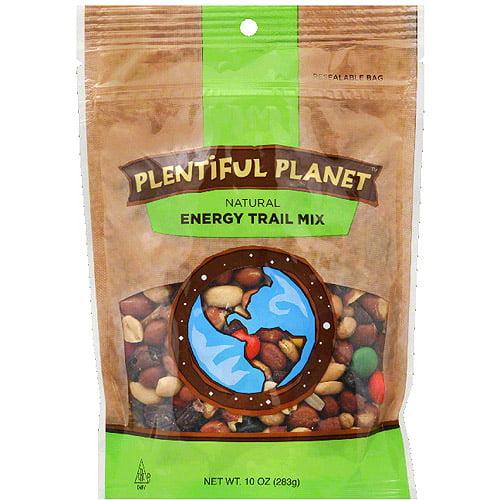 Plentiful Planet Energy Trail Mix, 10 oz, (Pack of 6)
